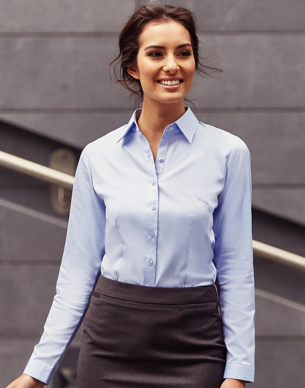 96da0c2173a6 Ladies  LS Herringbone Shirt